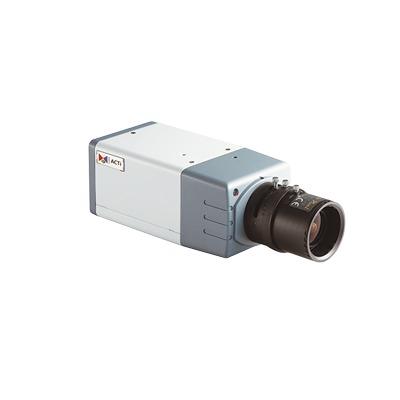 eac32c1544 Inicio / Videovigilancia / Cámaras IP y NVRs / Profesionales - Caja / E24A  – ACTI – Cámara box WDR de 3 megapixeles día/noche real con lente varifocal  ...