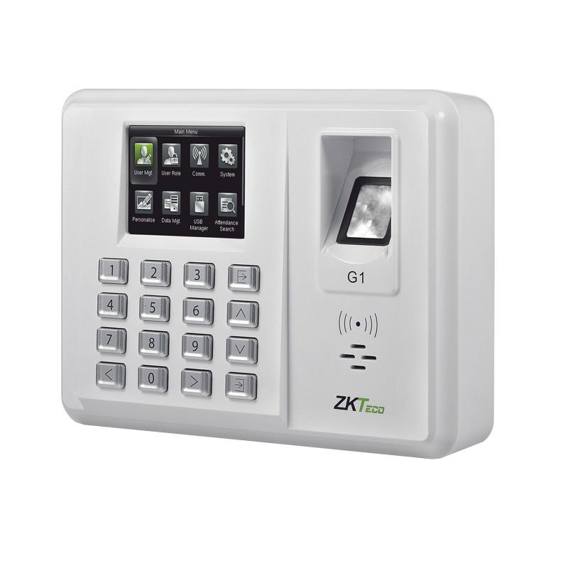 ZK-G1 - ZKTECO - GREEN LABEL - Checador de huellas Silk ID / Alta seguridad  / 5,000 huellas / 15,000 Tarjetas / Función PUSH ADMS inlcuida / Tiempo y